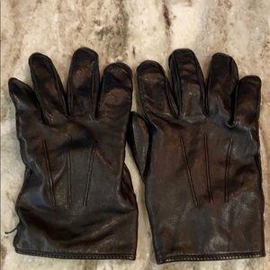 Coach Men's XL 100% leather 100% cashmere lining